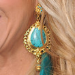 Adrienne Maloof Jewelry - Dangling Turquiose Earrings