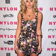 Alyson Michalka Clothes - Print Dress