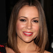 Alyssa Milano Medium Straight Cut
