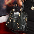 Amanda Bynes Studded Shoulder Bag