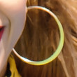 Amanda Reifer Gold Hoops