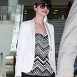 Anne Hathaway Clothes - Print Blouse
