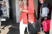 Ashley Tisdale Leather Shoulder Bag