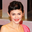 Audrey Tautou Hair - Bobby Pinned updo