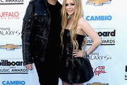 Avril Lavigne Leather Dress