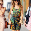 Behati Prinsloo Print Dress