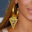Beyonce Knowles Jewelry - Gold Hoops