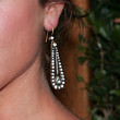 Brittany Snow Dangling Diamond Earrings