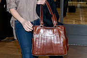 Brittany Snow Leather Tote
