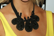 Brooklyn Decker Black Statement Necklace