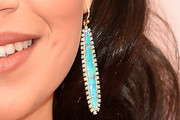 America Ferrera Dangling Gemstone Earrings