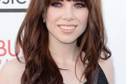 Carly Rae Jepsen Long Wavy Cut with Bangs