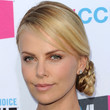 Charlize Theron Hair - Braided Bun