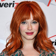 Christina Hendricks Hair - Medium Wavy Cut with Bangs