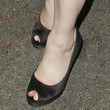 Christina Hendricks Shoes - Peep Toe Pumps