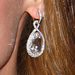 Christina Ricci Dangling Gemstone Earrings