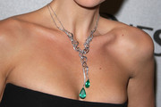 Christina Ricci Gemstone Chandelier Necklace