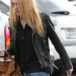 Dakota Fanning Leather Jacket