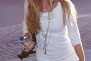 Denise Richards Layered Beaded Necklace