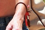 Denise Richards Leather Bracelet