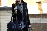 Denise van Outen Leather Coat