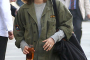 Drew Barrymore Military Jacket