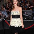 Eliza Dushku Strapless Dress