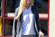 Elle Fanning Button Down Shirt