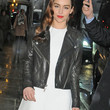 Emilia Clarke Clothes - Leather Jacket