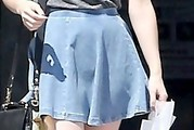 Emma Roberts Denim Skirt