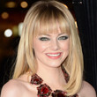Emma Stone Medium Straight Cut with Bangs