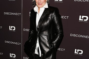 Glenn Close Leather Coat