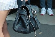 Hayden Panettiere Leather Tote