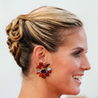 Heidi Klum Hair - Bobby Pinned updo