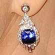 Helen Mirren Jewelry - Dangling Gemstone Earrings