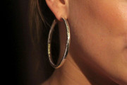 Hilary Duff Sterling Hoops
