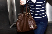 Hilary Swank Leather Shoulder Bag