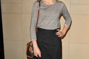Imogen Poots Leather Shoulder Bag