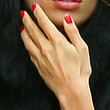 Irina Shayk Red Nail Polish
