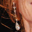 Isabelle Huppert Dangling Diamond Earrings