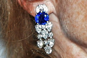 Isabelle Huppert Diamond Chandelier Earrings