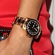 Jamie Chung Gold Chronograph Watch