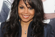 Janet Jackson Long Curls with Bangs