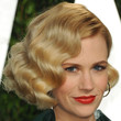 January Jones Hair - Short Wavy Cut