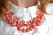 Jayma Mays Flower Statement Necklace
