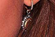 Jessica Alba Dangling Gemstone Earrings