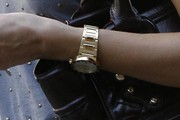 Jessica Alba Gold Bracelet Watch