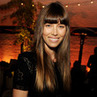 Jessica Biel Long Straight Cut with Bangs