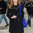 Jessica Chastain Clothes - Wool Coat