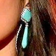 Jessica Sanchez Dangling Gemstone Earrings